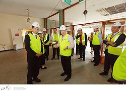 Commencement of construction ribbon-cutting ceremony at the Queen Mary Building, on Thursday 20 February 2014.