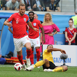 July 14, 2018 - St. Petersburg, Russia - July 14, 2018, St. Petersburg, FIFA World Cup 2018, Football match for the third place in the World Cup. Football match of Belgium - England at the stadium of St. Petersburg. Player of the national team Harry Kane. (Credit Image: © Russian Look via ZUMA Wire)