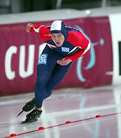 Skøyter, 9-10. november 2002. Verdenscupåpning, Vikingskipet, Rune Stordal, Norge