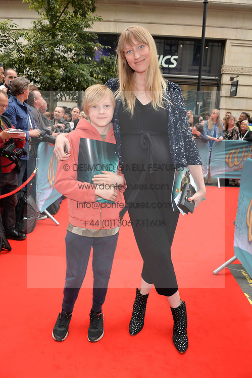 Jade Parfitt and her son Jackson Burgess arriving at The opening night of Wind in The Willows at the London Palladium, Argyll Street, London England. 29 June 2017.<br /> Photo by Dominic O'Neill/SilverHub 0203 174 1069 sales@silverhubmedia.com