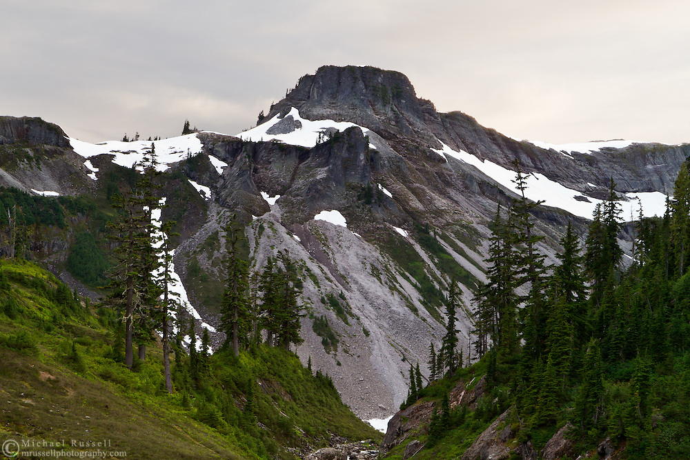 Table Mountain from the Bagley Lakes Trail in the Mount Baker Wilderness