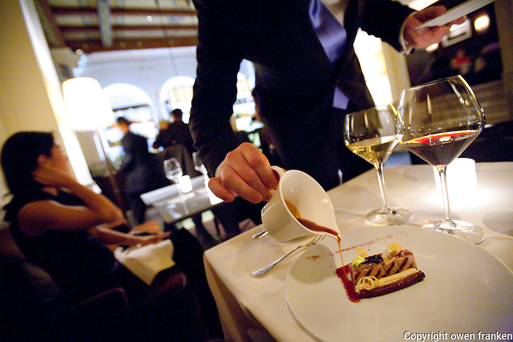 .service in the Lounge at the French restaurant Daniel, NYC.