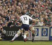 Leicester, ENGLAND. Martin Corry, Mike Catt, Guinness Premiership Semi-Final. Leicester Tigers vs London Irish, at Welford Road, 05.2006. © Peter Spurrier/Intersport-images.com,  / Mobile +44 [0] 7973 819 551 / email images@intersport-images.com.   [Mandatory Credit, Peter Spurier/ Intersport Images].14.05.2006