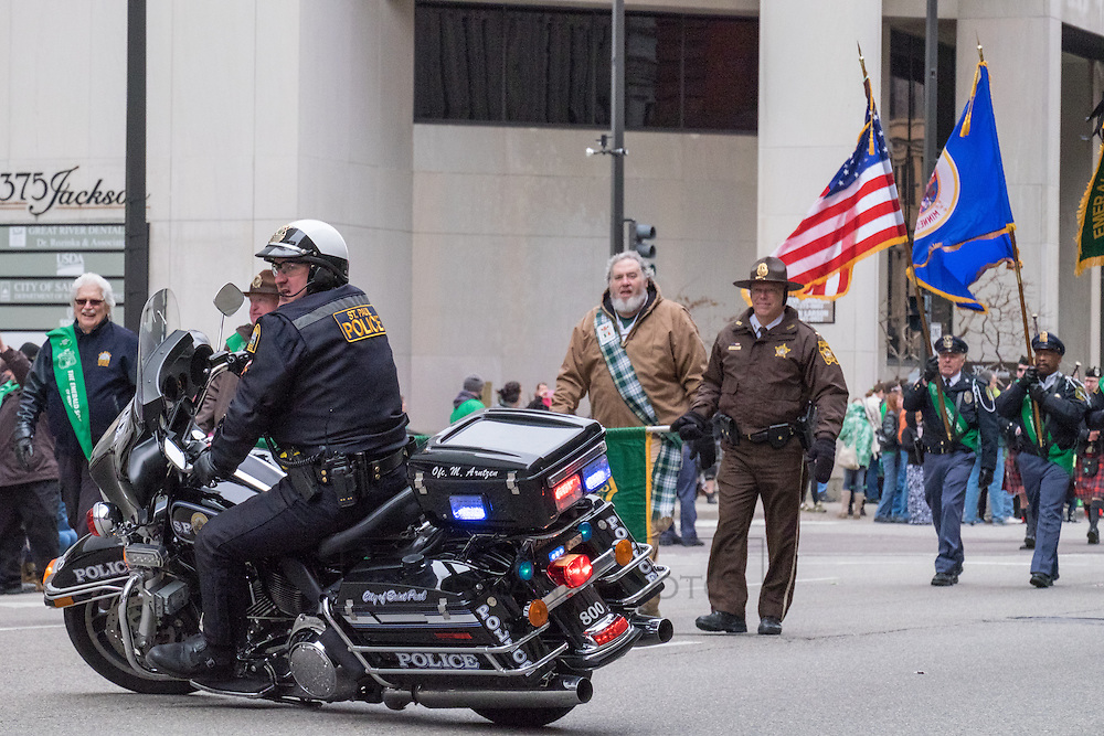 Happenings at the St. Paul St. Patricks Day Parade in 2016