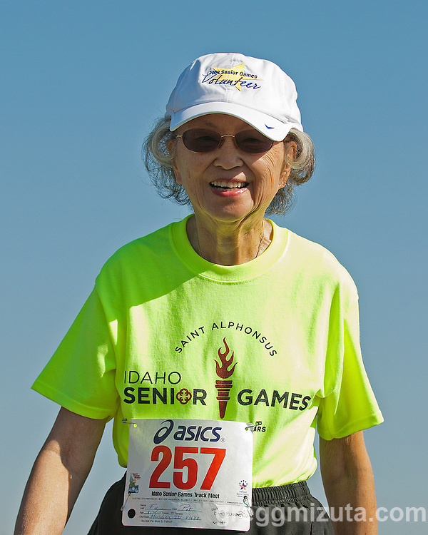 Patricia Fuji at the Idaho Senior Games at Timberline High School in Boise, Idaho on August 3, 2013.
