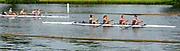 Henley on Thames, England, United Kingdom,  Sunday,  23.06.19,  Tideway Scullers School, cross the Finish Line, ahead of St Paul's School, Concord, New Hampshire, USA, in the emirates-Final, J 4+ Henley Women's Regatta, Henley Reach,  Karon PHILLIPS/Intersport Images,<br /> , <br /> 09:44:30