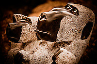 Zimsculpt at Van Dusen Botanical Garden: Mischievous Baboons - springstone sculpture by Sylvester Mubayi (original sculpture available at www.zimsculpt.com)