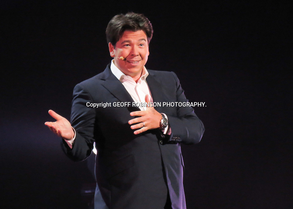 PIC BY GEOFF ROBINSON PHOTOGRAPHY 07976 880732.<br /> <br />  PIC SHOWS MICHAEL McINTYRE PERFORMING AT THE CHANNEL 4 COMEDY GALA AT THE O2  IN LONDON ON FRIDAY NIGHT MAY 16TH.<br /> <br /> A host of Britain's best-known comedy stars performed a sell-out show at The O2 in London last night (Fri).<br /> <br /> Comedians including Michael McIntyre, Lee Evans and Jonathan Ross entertained a crowd of 15,000 people at the fifth annual Channel 4 Comedy Gala.<br /> <br /> The show was opened by comedy actor Warwick Davis, comedian Alan Carr and dance troupe Spellbound, who won Britain's Got Talent four years ago.<br /> <br /> They were followed by an all-star cast of top comedians including Jack Dee, Jo Brand,Kevin Bridges and Sean Lock.<br /> <br />  SEE COPY CATCHLINE  Stars at Channel 4 Comedy Gala