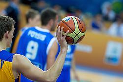 04.09.2013, Arena Bonifka, Koper, SLO, Eurobasket EM 2013, Schweden vs Griechenland, im Bild Ball // during Eurobasket EM 2013 match between Sweden and Greece at Arena Bonifka in Koper, Slowenia on 2013/09/04. EXPA Pictures © 2013, PhotoCredit: EXPA/ Sportida/ Matic Klansek Velej<br /> <br /> ***** ATTENTION - OUT OF SLO *****