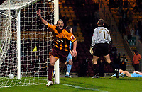 Photo: Jed Wee.<br />Bradford City v Tranmere Rovers. The FA Cup.<br />06/11/2005.<br /><br />Bradford's Dean Windass celebrates after an attempt disallowed for offside.