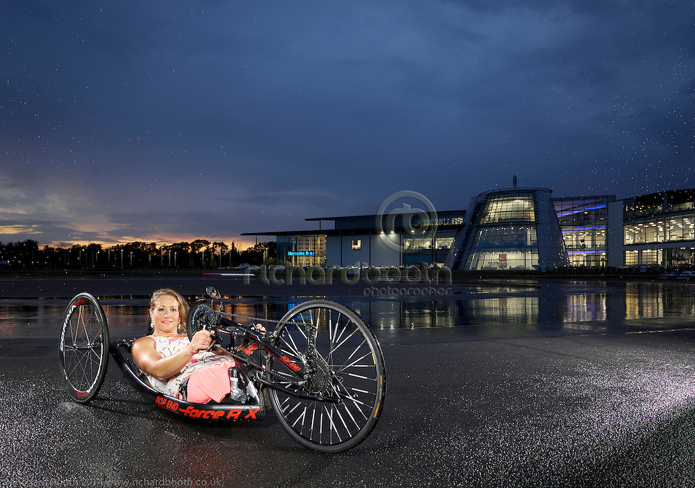 Rachel Morris at Mercedes Benz World Multi Paralympic Champion Rachel Morris