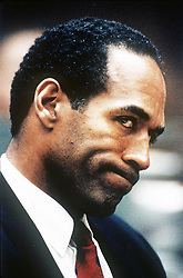 Jan 24, 1995 - Los Angeles, California, U.S. - ORENTHAL JAMES SIMPSON, or OJ SIMPSON, faced 2 counts of first-degree murder in the June 12, 1994, stabbing of ex-wife Nicole Brown Baur Simpson, and her friend Ron Goldman. OJ was found not guilty at the criminal trial (1/24-10/3/1995). but a civil trial (1919-10-2396-2/4/1997) found OJ liable for the murders and responsible for 33.5 million dollars compensatory damages to be split by the Brown and Goldman families. OJ now lives in Florida. PICTURED: O.J. SIMPSON at the murder trial, date unknown. (Credit Image: © Court POOL/ZUMApress.com)