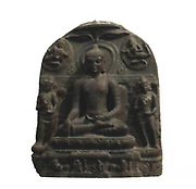The victory over Mara (Maravijaya). 10th century 'Death, ' Mara is the personification of death and tempter of the future Buddha, 'Maravijaya' Buddha Qualifier winner of the demon of temptation and death, Mara, and managed to attain enlightenment. Pala-Sena dynasty (8th-12th century AD) sculptures from Bihar, India