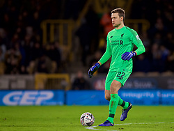 WOLVERHAMPTON, ENGLAND - Monday, January 7, 2019: Liverpool's goalkeeper Simon Mignolet during the FA Cup 3rd Round match between Wolverhampton Wanderers FC and Liverpool FC at Molineux Stadium. (Pic by David Rawcliffe/Propaganda)