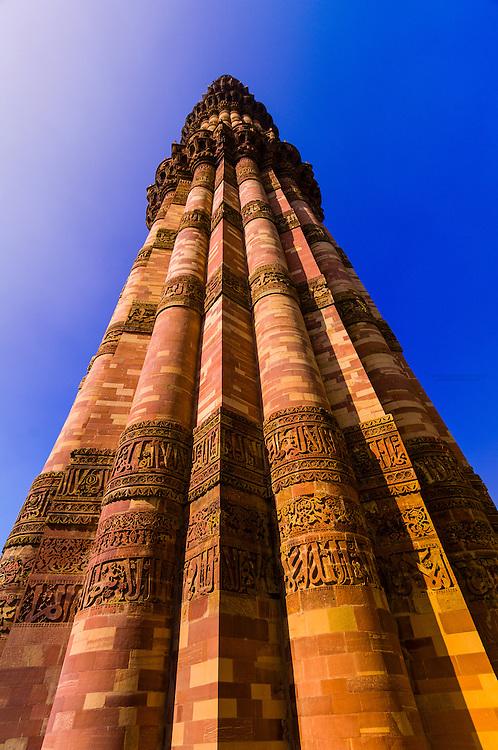 Qutab Minar (sandstone tower), Delhi, India