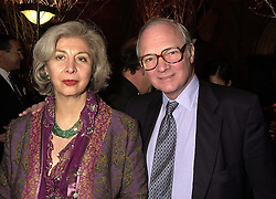 LORD & LADY RENWICK at a party in London on 15th November 2000.OJD 69