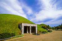 Silla Tombs (entrance of Flying Horse Tomb), Tumuli Park, Kyojgju, South Korea