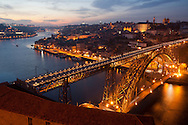 Dom Luis brigde at night, Porto Portugal