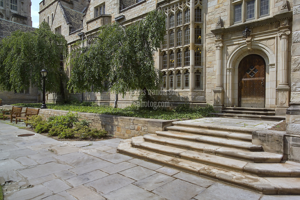 Yale University Campus, The Branford College Quad in Early Spring