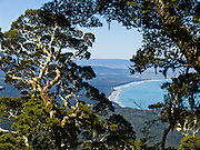 See the South Pacific Ocean from atop the Tuatapere Hump Ridge Track, in Fiordland National Park, South Island, New Zealand. In 1990, UNESCO honored Te Wahipounamu - South West New Zealand as a World Heritage Area.