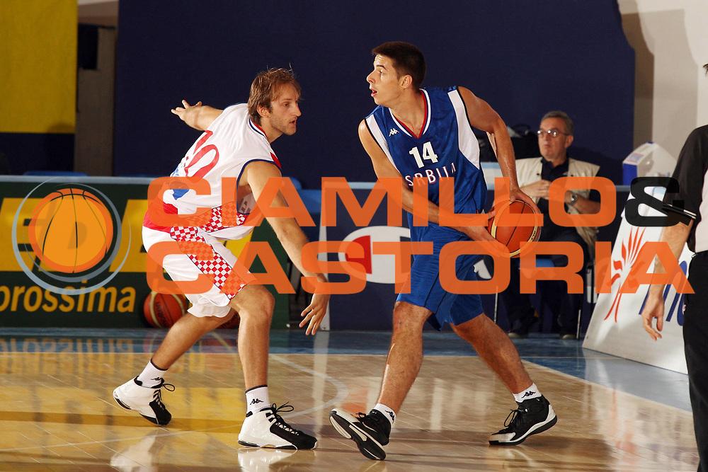 DESCRIZIONE : Bormio Torneo Internazionale Gianatti Croazia Serbia <br /> GIOCATORE : Milenko Tepic<br /> SQUADRA : Serbia <br /> EVENTO : Bormio Torneo Internazionale Gianatti <br /> GARA : Croazia Serbia <br /> DATA : 03/08/2007 <br /> CATEGORIA : Palleggio<br /> SPORT : Pallacanestro <br /> AUTORE : Agenzia Ciamillo-Castoria/G.Cottini