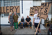 KATHRYN KLASSNIK; ROBIN KLASSNIK, ELIZABETH PRICE; BRIAN CATLING, Matt's Gallery 35th birthday fundraising supper.  42-44 Copperfield Road, London E3 4RR. 12 June 2014.