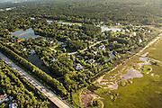 Aerial view of Ravens Run development in Mount Pleasant, SC.