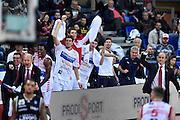 DESCRIZIONE : Pesaro Lega A 2015-16 Consultinvest Pesaro - Obiettivo Lavoro Bologna<br /> GIOCATORE : team<br /> CATEGORIA : esultanza<br /> SQUADRA : Consultinvest Pesaro<br /> EVENTO : Campionato Lega A 2015-2016<br /> GARA : Consultinvest Pesaro - Obiettivo Lavoro Bologna<br /> DATA : 25/10/2015<br /> SPORT : Pallacanestro <br /> AUTORE : Agenzia Ciamillo-Castoria/GiulioCiamillo<br /> Galleria : Lega Basket A 2015-2016 <br /> Fotonotizia : Pesaro Lega A 2015-16 Consultinvest Pesaro - Obiettivo Lavoro Bologna<br /> Predefinita :
