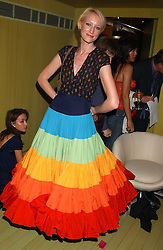 JADE PARFITT at a fashion show by ISSA held at Cocoon, 65 Regent Street, London on 21st September 2005.<br />