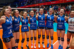 Sliedrecht Sport celebrate in the cup final between Sliedrecht Sport and Laudame Financials VCN on February 16, 2020 in De Maaspoort in Den Bosch.