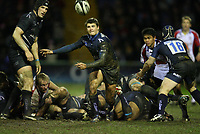 Photo: Rich Eaton.<br /> <br /> Sale Sharks v Bristol Rugby. Guinness Premiership. 01/01/2007. Richard Wrigglesworth the Sale scrum half passes from a ruck