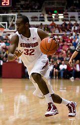 February 13, 2010; Stanford, CA, USA;  Stanford Cardinal guard Da'Veed Dildy (32) during the first half against the Washington Huskies at Maples Pavilion.  Washington defeated Stanford 78-61.
