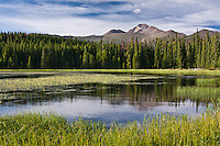 Bierstadt Lake with Longs Peak in the distance.  Rocky Mountain National Park, Colorado.