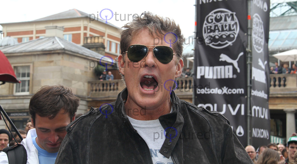 David Hasselhoff The Gumball 3000 Rally - Celebrities, Covent Garden, London, UK, 26 May 2011:  Contact: Rich@Piqtured.com +44(0)7941 079620 (Picture by Richard Goldschmidt)