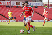 Adam Hammill (Barnsley) runs with the ball during the Sky Bet League 1 match between Barnsley and Scunthorpe United at Oakwell, Barnsley, England on 25 March 2016. Photo by Mark P Doherty.