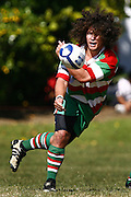 East Tamaki's Victor Peach fires out a pass during the Auckland Premier Club Rugby match, East Tamaki v Papatoetoe at East Tamaki Domain, Auckland, New Zealand. Saturday 4 April 2009. Photo: Anthony Au-Yeung/PHOTOSPORT