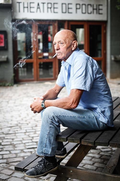 Brussels. August 06th, 2013. Portrait of Roland Mahauden, ex-directeur of the Theatre de Poche . Pix: Roland Mahauden. Credit: Pablo Garrigos