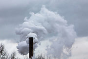 Steam bellows from the chimney of the British sugar beet processing plant in Newark on Trent, Nottinghamshire, United Kingdom.  (photo by Andrew Aitchison / In pictures via Getty Images)