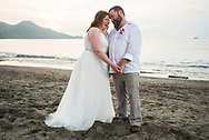 Rita and Brian on their wedding day at RIU Guanacaste in Costa Rica.