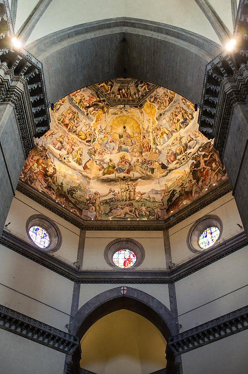 Inside the Basilica di Santa Maria del Fiore, or Duomo, in Florence, Italy