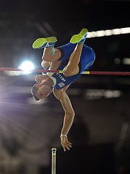 Konstadinos Filippidis of Greece competes in the Men's Pole Vault Final during day one of the IAAF World Indoor Championships at Oregon Convention Center in Portland, Oregon, the United States, on March 17, 2016. EXPA Pictures © 2016, PhotoCredit: EXPA/ Photoshot/ Yin Bogu<br /> <br /> *****ATTENTION - for AUT, SLO, CRO, SRB, BIH, MAZ, SUI only*****