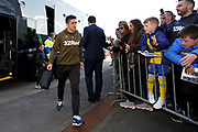 Leeds United midfielder Pablo Hernandez (19) arriving at the ground during the EFL Sky Bet Championship match between Preston North End and Leeds United at Deepdale, Preston, England on 9 April 2019.