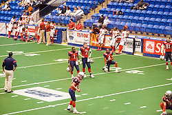 14 March 2009: Mitch Tanney and Ronnie Simpson watch during warm-ups. The Sioux Falls Storm were hosted by the Bloomington Extreme in the US Cellular Coliseum in downtown Bloomington Illinois.