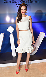 September 11, 2017 - Mumbai, Maharashtra, India - Indian film Actress Evelyn Sharma unveiled the Vivo V7 Plus mobile phone at Sahara star hotel in Mumbai. (Credit Image: © Azhar Khan/Pacific Press via ZUMA Wire)