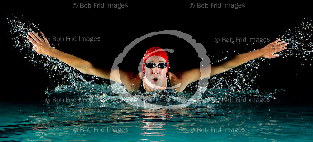 13 August 2011: Julia Morris - Girls Division 6 of the Richmond Kigoos Swim Club.  The Club prepares to play host to the BC Summer Swimming Provincial Championships to held at Watermania Pool in Richmond , BC.  Kigoos Provincial team Portrait and individuals expected to to excel during the mchmpionships.  ****(Photo by Bob Frid/Freemotionphotography.ca) All Rights Reserved : cell 778-834-2455 : email: bob.frid@freemotionphotography.ca ****