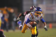 Oxford High's Joey Walden (85) dives forward as Picayune's Kadarius Cross (5) chases in the MHSAA Class 5A championship game at Mississippi Veterans Memorial Stadium in Jackson, Miss. on Saturday, December 7, 2013. Picayune rallied to win 42-35.