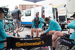 Drops Cycling Team riders prepare for Stage 1 of the Emakumeen Bira - a 50 km road race, starting and finishing in Iurreta on May 16, 2017, in Basque Country, Spain.