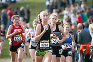 Madison Tanner competes in the Nike Cross Regionals Northwest girls open invitational race on November 12, 2016 at Eagle Island State Park, Eagle, Idaho.