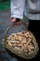 winemaker Marc pParcé carrying corks - Banyuls, France - Photograph by Owen Franken