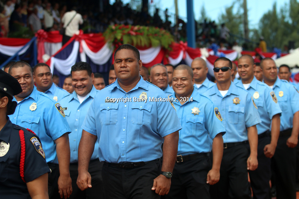 2014 Flag Day Ceremonies at Veterans Memorial Stadium, Tafuna, Tutuila, American Samoa.   Photo by Barry Markowitz, (Courtesy STP/TriMarine) 4/17/14, 7am-1:30pm